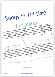 Songs in 7/8 time for piano